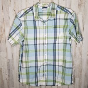 Columbia Shirt Plaid Button Front Mens SIze Large